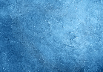 Old wall texture toned classic blue color