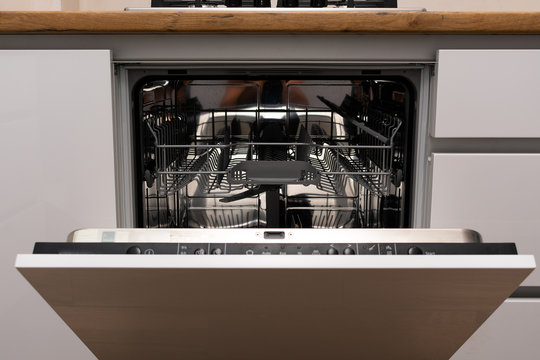 Dishwasher integrated in a modern kitchen