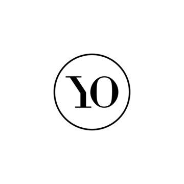 Letter YO initial monogram logo design, wedding, fashion, make up logo template