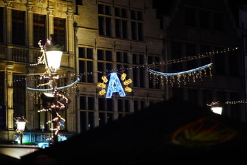 Wall Murals Antwerp winter van Antwerpen 2019 - 2020 Christmas & New Year