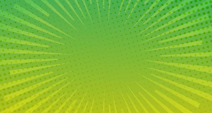 Green halftone comic background