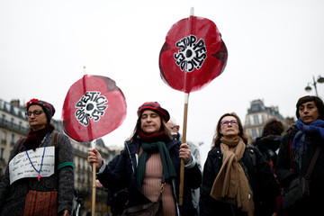 Climate change protest march in Paris