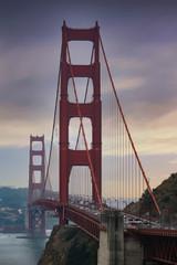 Fototapete - Golden Gate Bridge Across Bay into San Francisco