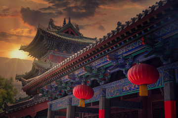 Shaolin is a Buddhist monastery in central China. Fototapete