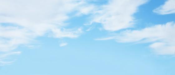 Türaufkleber Pool Panoramic Nature soft Blue sky background