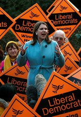 Liberal Democrat leader Jo Swinson campaigns in Sheffield