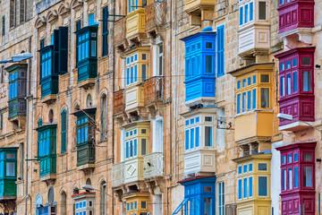 Famous wooden balconies of Malta.