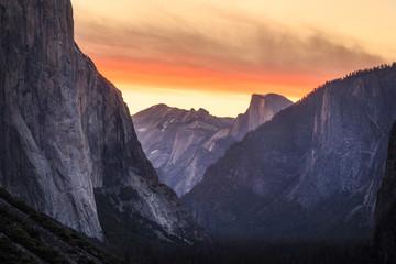 Poster Centraal-Amerika Landen Yosemite national parc - USA
