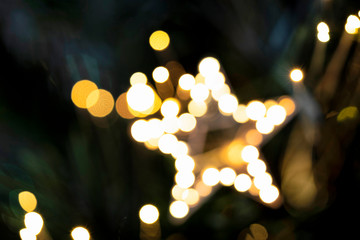 Multicolored bokeh of background. Abstract defocused light. Colorful festive background. Bokeh of christmas decoration.