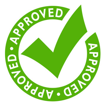 Approved green vector seal