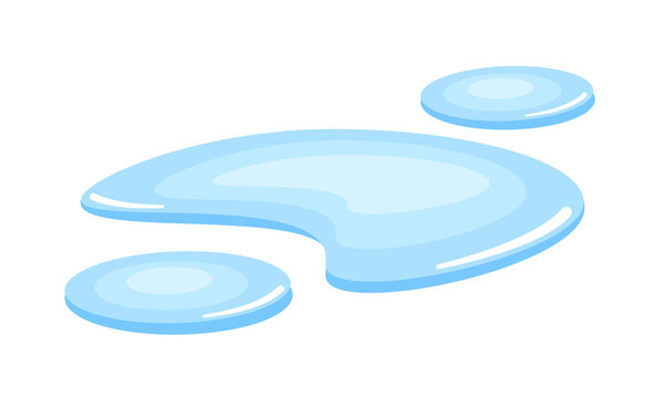 Melted water puddle vector icon