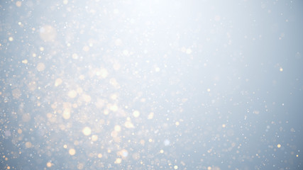 glowing particles, stars and sparkling flow, abstract background