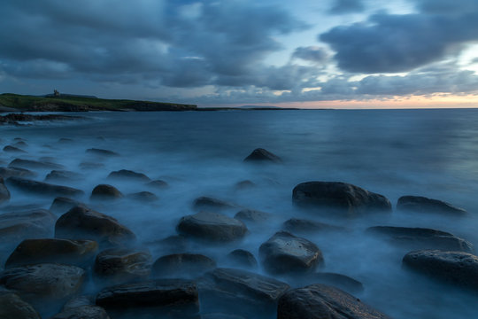 Mullaghmore sea coast after the sunset