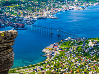 Summer view of Tromso, Norway