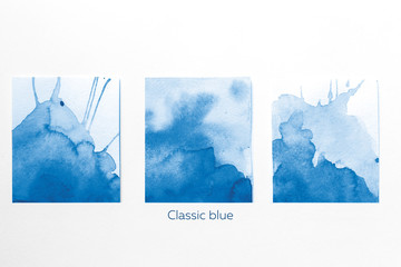 Palette Color 2020 classic blue pantone, on white background