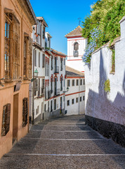 The picturesque Albaicin district in Granada on a sunny summer afternoon. Andalusia, Spain.