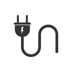 Vector wire plug icon.