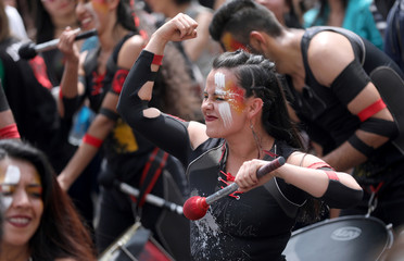 Protest march combined with concerts in Bogota