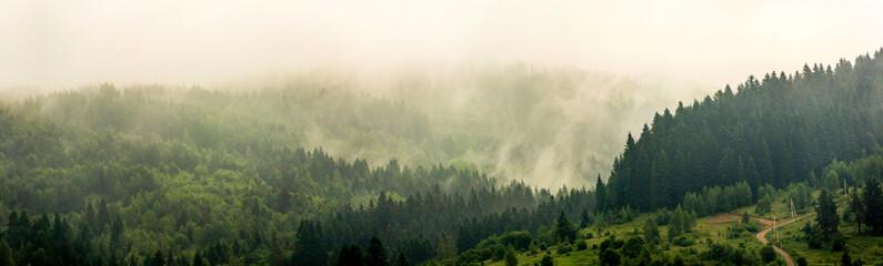 a carpathian landscape at the morning Fototapete