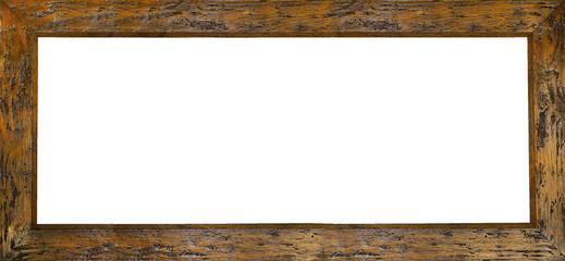 marco rustico de madera aislado