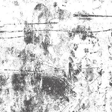 Transparent gray grunge texture black blots, noise, vector grunge background to create vintage retro effect