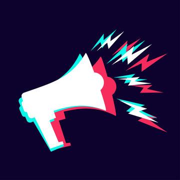 Promotion concept vector illustration megaphone modern Symbol