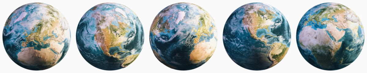 Planet Earth continental cartography