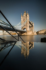 Fotobehang Londen London cityscape panorama with River Thames Tower Bridge and London Cityscape