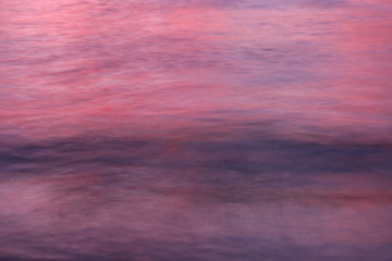 Wall Murals Candy pink Sunset of the sea reflections