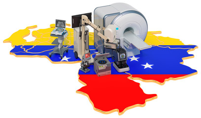 Medical diagnostic and research in Venezuela, 3D rendering
