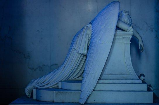 Mesmerizing historic work of art portraying a crying angle