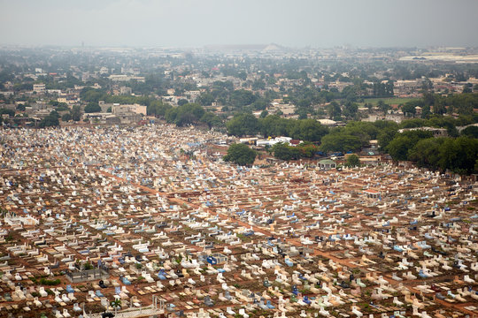 Aerial view of Lomé, capital of Togo. African country located in West Africa. year 2014