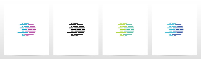 Fototapeta Lines And Dots Letter Logo Design D obraz