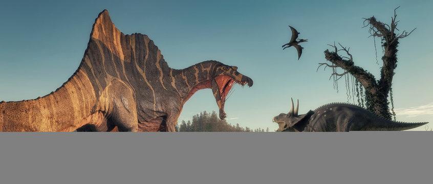 Spinosaurus lake