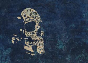 Textured sugar skull