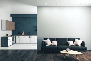 Contemporary studio kitchen interior Fotomurales