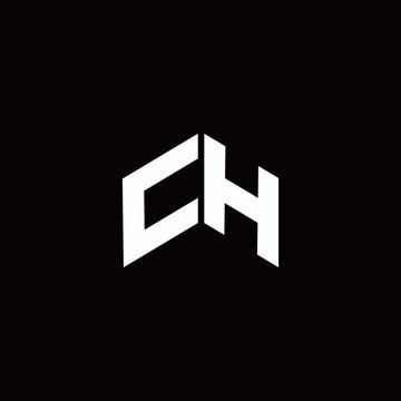 CH Logo monogram modern design template