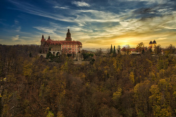 panoramic view of the Książ Castle Fototapete