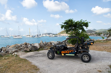 sport buggy car near bay