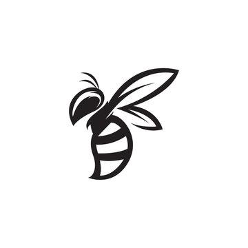 bee logo template vector mascot illustration