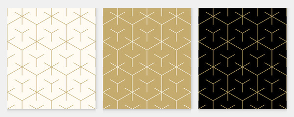 Background pattern seamless geometric line abstract gold luxury color vector. Christmas background. Fototapete