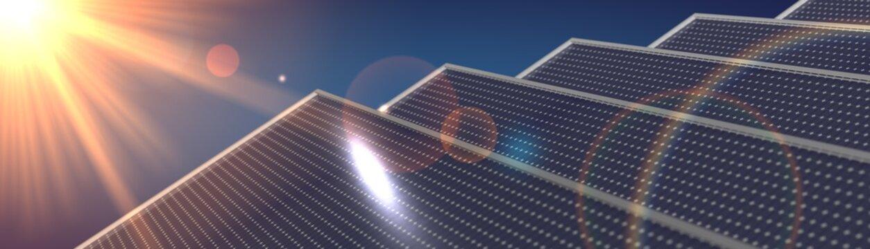 solar cell panel digital power illustration