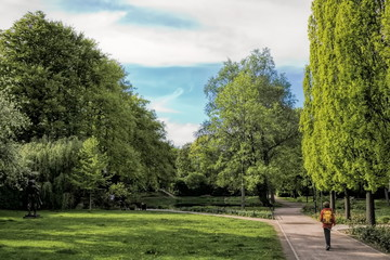 stadtpark in bernau bei berlin, deutschland