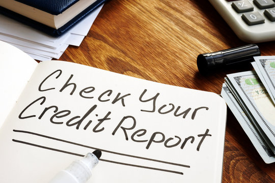Check your credit report memo on the page.