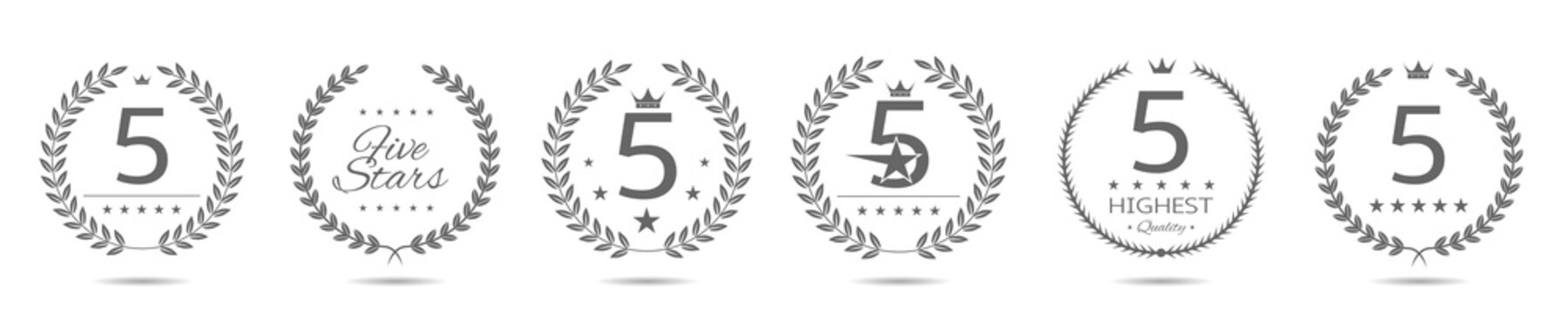Five star badge set