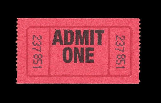 Eintrittskarte ticket event Admit One rot vintage retro englisch english Konzert concert Event Festival Kino cinema movie Theater 237851