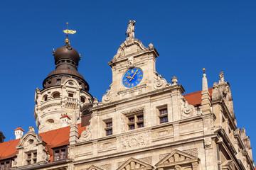Das Neue Rathaus in Leipzig, Sachsen, Deutschland
