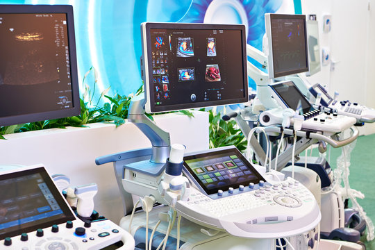Medical ultrasound devices on exhibition