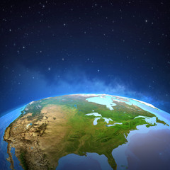 Wall Mural - Surface of the Earth from space