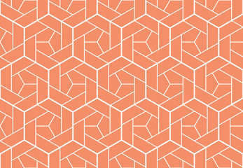 Foto op Canvas Geometrisch The geometric pattern with lines. Seamless vector background. White and pink texture. Graphic modern pattern. Simple lattice graphic design